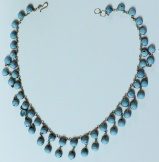 Delicate 2 Row Turquoise Necklace (JN-21)